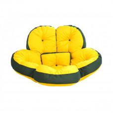 Кресло футон ЦВЕТОК желтый