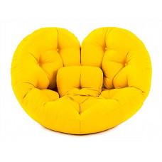 Кресло футон СЕРДЦЕ желтое