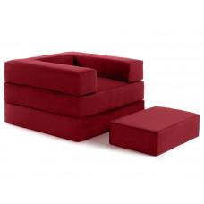 Кресло футон DOMINO бордо