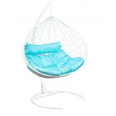 Подвесное кресло Bali белый+голубой
