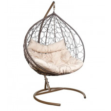 Подвесное кресло Bali бежевый+коричневый