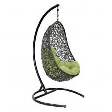 Подвесное кресло Easy зеленый + коричневый