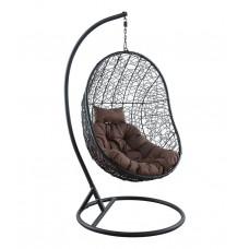 Подвесное кресло KIWI черный + коричневый