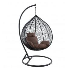 Подвесное кресло Kokos Big черный+коричневый