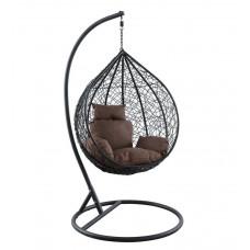 Подвесное кресло Kokos small черный+коричневый