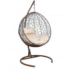 Подвесное кресло Luna бежевый+коричневый