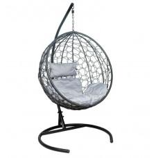 Подвесное кресло Luna серый+черный