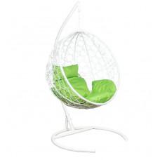 Подвесное кресло Luna белый+зеленый