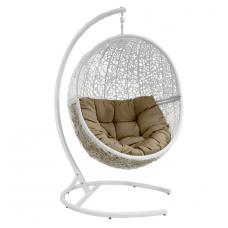 Подвесное кресло Lunar коричневый + белый