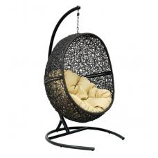 Подвесное кресло Lunar бежевый+черный