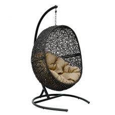 Подвесное кресло Lunar коричневый+черный