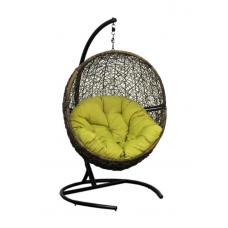 Подвесное кресло Lunar зеленый + коричневый