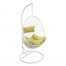 Подвесное кресло Sails белый+зеленый