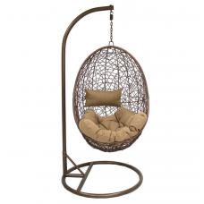 Подвесное кресло Sails бежевый+коричневый