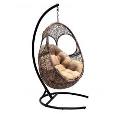 Подвесное кресло Solar бежевый+коричневый