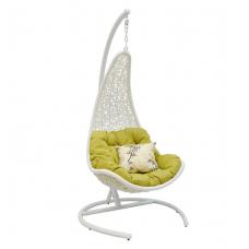 Подвесное кресло Wind белый + зеленый
