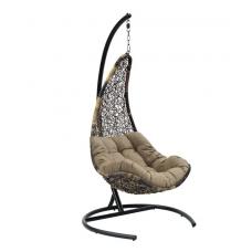 Подвесное кресло Wind черный+коричневый