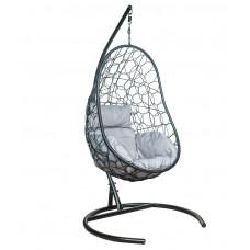 Подвесное кресло Azhur серый+черный