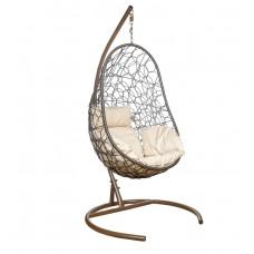 Подвесное кресло Azhur бежевый+коричневый