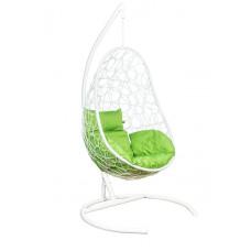 Подвесное кресло Azhur белый+зеленый