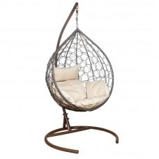 Подвесное кресло Eva бежевый+коричневый