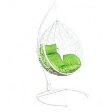 Подвесное кресло Eva белый+зеленый