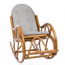 Кресло-качалка из ротанга CLASSIC мед с футоном