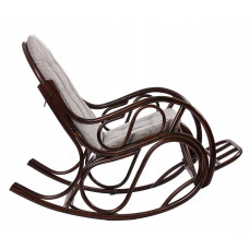 Кресло-качалка из ротанга CLASSIC орех с футоном