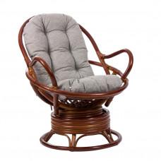 Кресло-качалка из ротанга SWIVEL ROCKER коньяк с футоном