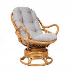 Кресло-качалка из ротанга SWIVEL ROCKER мед с футоном
