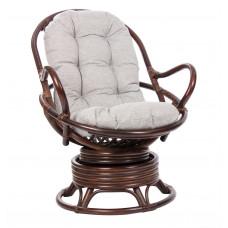 Кресло-качалка из ротанга SWIVEL ROCKER орех с футоном