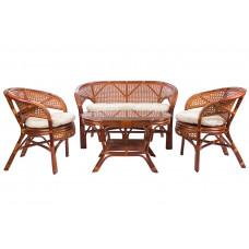 Набор мебели из ротанга Pelangi коньяк